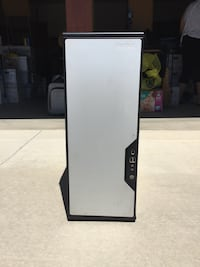 Black and gray Rotec computer tower