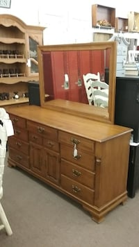 Tell City 12 Drawer Dresser w/ Mirror Mesa