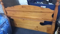 Solid pine double headboard and footboard bed Brampton, L6T