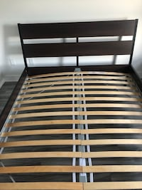 Bed frame, dark brown, queen size  Montreal, H3X 2K5