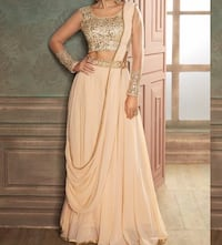 BLUSH EMBROIDERED LEHENGA LENGHA STYLE SAREE Brampton, L7A 1P3