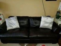 Brown bonded leather couch Toronto, M8Z 4M2