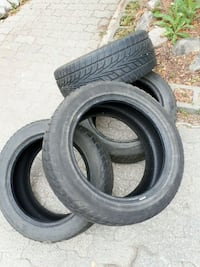black and gray car tires Winnipeg, R2K 1V9