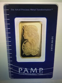 Pano Suisse 1 Troy Oz. Gold Bar Ashburn, 20148