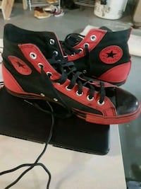 pair of red Converse All-Star high-tops Ontario, L7E 2G6