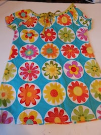 hippo HULA 12 months bold bright colorful dress flowers girl  Rockville