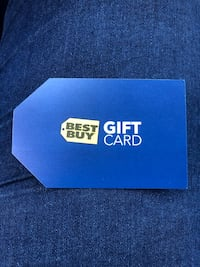 Blue and white Best Buy gift card 2236 mi