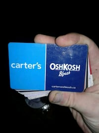 Gift card for OSHKOSH B'gosh and Carter's  Vancouver, V5Y