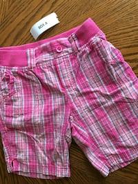 Basic editions pink plaid shorts (child's 10-12)