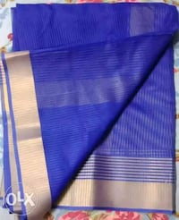 Blue and golden striped saree Thane, 400607