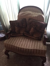Brown wooden framed gorgeous armchair Palm Bay, 32908