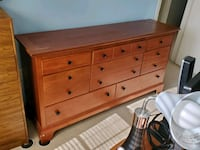 Dresser with Mirror and King Headboard