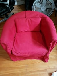 Red fabric sofa chair (IKEA)  Montréal, H2B 2J9