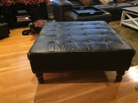 Black leather tufted ottoman chair East Islip, 11730
