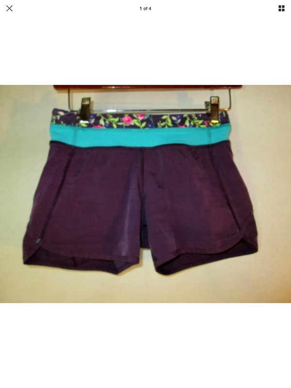 Ivivva 12 girls for lululemon speedy shorts run loose (fits women's 4)