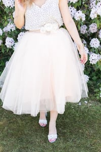 "Blush Tulle Skirt 30"" Length - Space 46 Boutique Toronto, M2N 5M5"