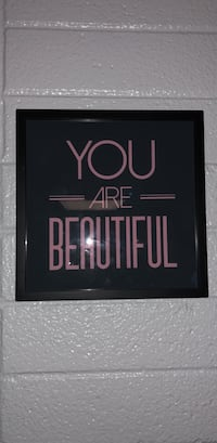 black and pink Your are beautiful wall mounted decor