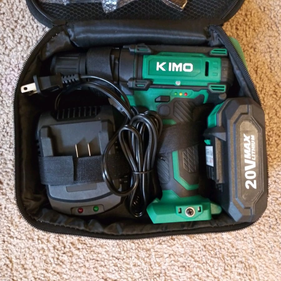 KIMO 20V Max Impact Hammer Drill Set w/Lithium-Ion Battery  5