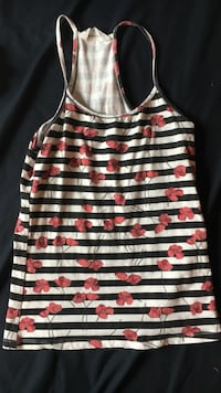 Tank top stripped with flowers - Bluenotes  Milton, L9T 4M4