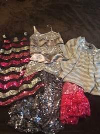 Girls size 7/8 sparkly clothes lot Langley, V2Y 2X1