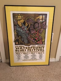 2003 The Bite Water Front Blues Festival Framed and matted Vancouver, 98662