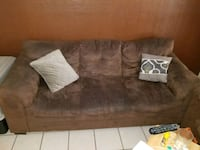brown suede 3-seat sofa McAllen