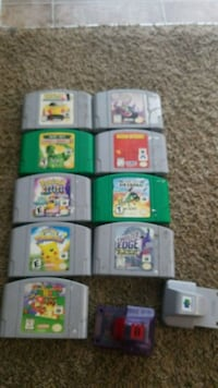 Assorted Nintendo 64 games and accessories. McMinnville, 97128