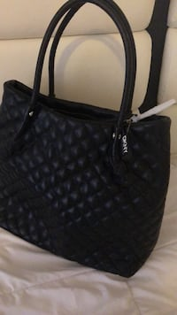Black leather quilted tote bag Los Angeles, 91343