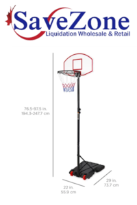 New- Kids Portable Height-Adjustable Basketball Hoop System Stand - Black Mississauga