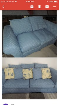 Lazy boy couch and loveseat with Gray and white floral throw pillows Summerville, 29485