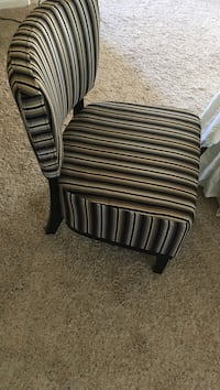 black and white stripe fabric sofa chair Bakersfield, 93312
