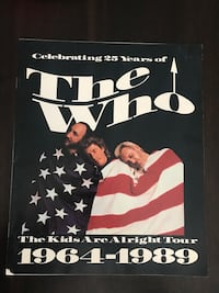 VINTAGE 1989 THE WHO ~ KIDS ARE ALRIGHT TOUR BOOK Niskayuna, 12309