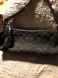 Black Coach Bag (has black tag and big leather stamped ID on outside on pocket) Georgetown, 45121