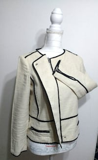 ZARA Contrast Moto Career Blazer (FIXED PRICE) Toronto