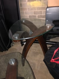 Small glass coffee table  Alexandria