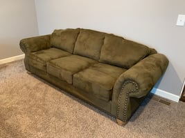 Couch, chair, and ottoman furniture set