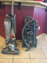 Kirby Ultimate G Vacuum and Carpet Shampoo System. Includes extra belts and bags. Includes accessories as well.