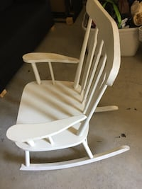white and brown wooden rocking chair Surrey, V4A 7R5