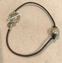 A&E leather and crystal toggle bracelet Silver Spring, 20904