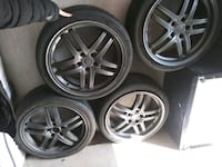 17in tires and wheels fits most cars Grand Prairie, 75050