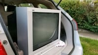 white CRT TV with remote Arvada, 80003