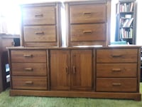 Vintage Solid Wood Dresser and nightstands set Los Angeles, 91342