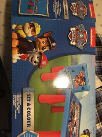 Paw patrol table and chair for toddler