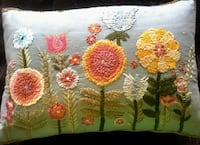Pier 1 pillow.  Blue floral.  Woodbridge, 22191