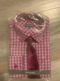 Size 14 shirt and tie Cambridge, N1T 1X8