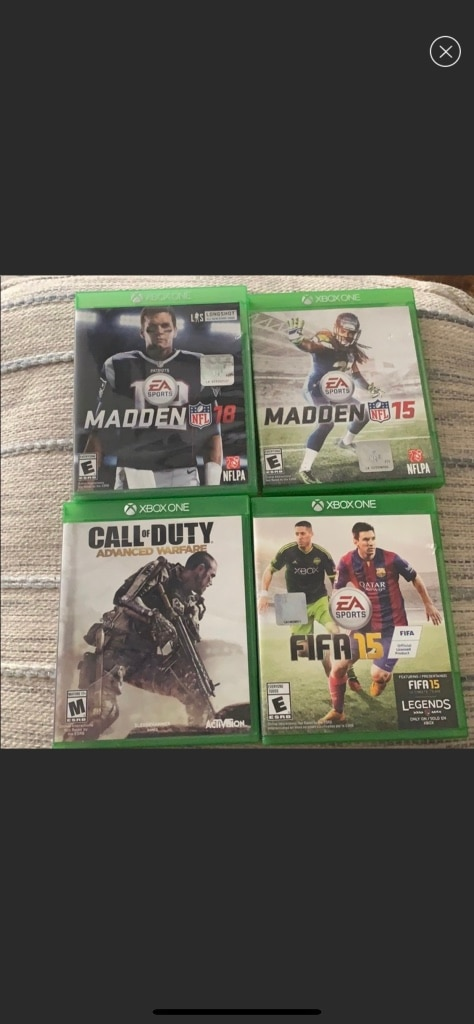 Photo Xbox one games Call of duty, Madden fifa