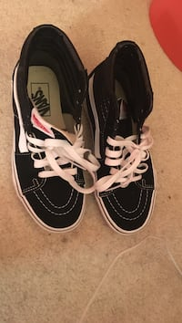 Black and white vans, size 5, condition:10/10 Frederick, 21703
