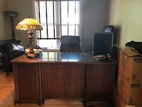 Solid wood executive desk and file cabinet  Triangle, 22172