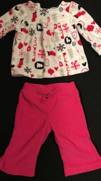 3/6 months Christmas sweat pants outfit