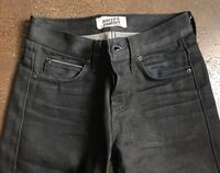 Naked and Famous super Skinny Guy Sumi Ink Coated Selvedge Raw Denim